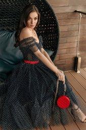 Вечерние Платья 2019 Силуэт  Пишный  Цвет  Black  Вырез  Сердце  Рукава  Приспущенный  Шлейф  Без шлейфа - Фото 3