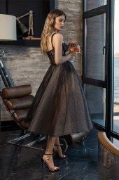 Вечерние Платья 2020 Силуэт  Пишный  Цвет  Капучино  Black  Вырез  Сердце  Рукава  Без рукавов  Шлейф  Без шлейфа - Фото 3
