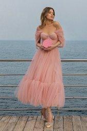 Вечерние Платья 2008 Силуэт  А-силует  Цвет  Пудровый  Вырез  Сердце  Рукава  Приспущенный  Шлейф  Без шлейфа - Фото 3