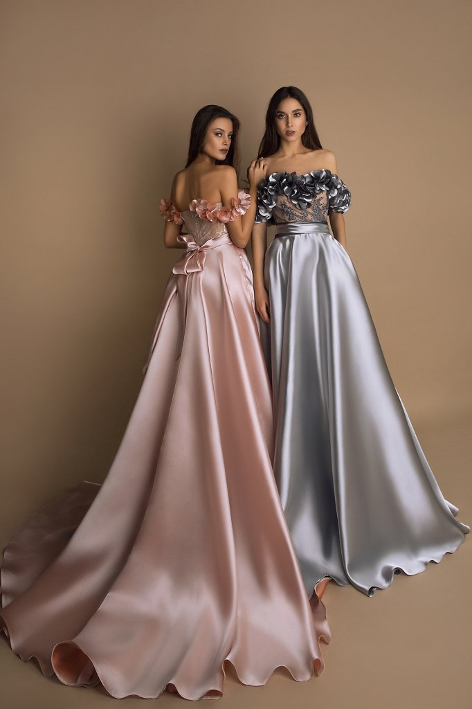 Вечірні сукні 1624 Колір  Пудровий - Фото 2