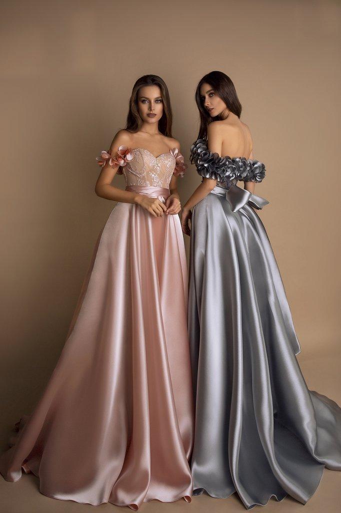 Вечірні сукні 1624 Колір  Пудровий - Фото 3
