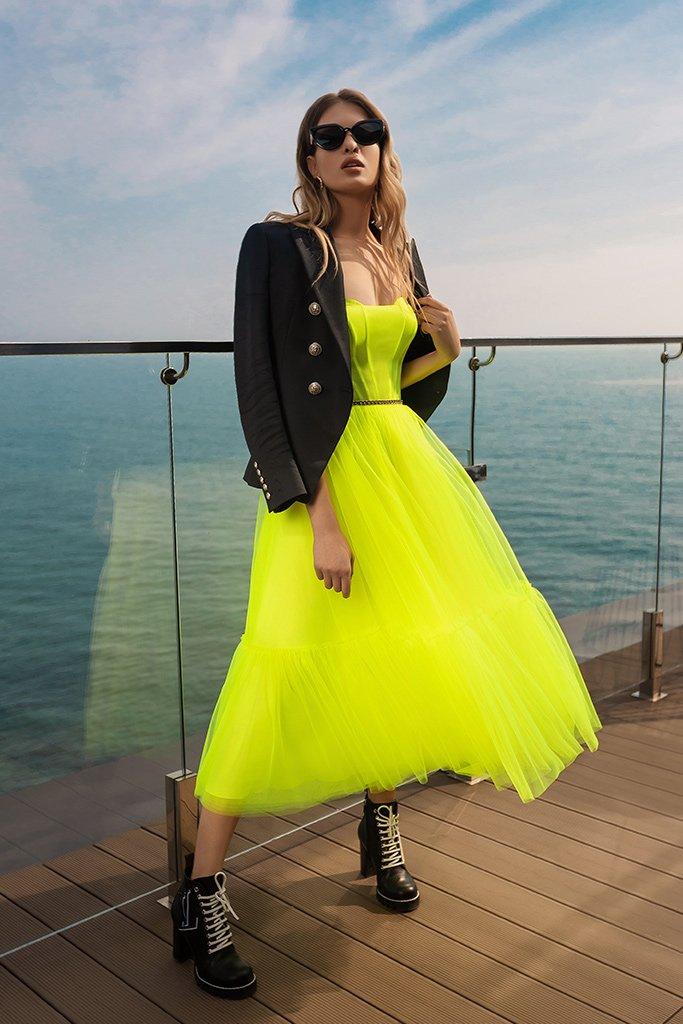 Вечірні сукні 2026 Силует  Пишний  Колір  Зелений  Виріз  Прямий  Рукави  Без рукавів  Шлейф  Без шлейфа