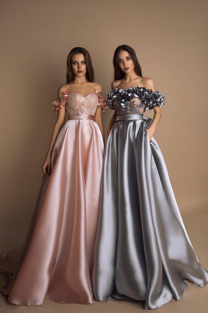 Вечірні сукні 1624 Колір  Пудровий